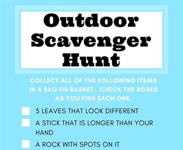 Outdoor Scavenger Hunt for Cubs!