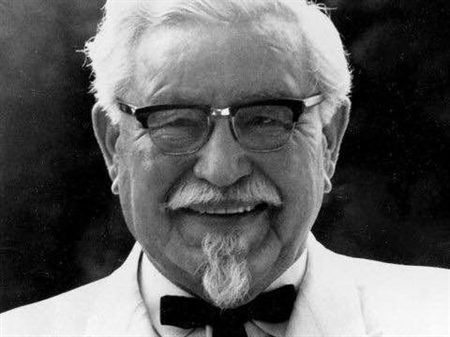 Its never too late - Colonel Harland Sanders